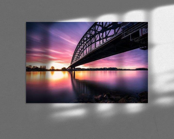 Sfeerimpressie: De Oude IJsselbrug bij Zwolle van Fotografiecor .nl