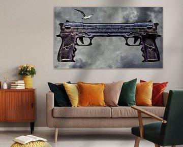 La dualité du pistolet du karma sur Ruben van Gogh