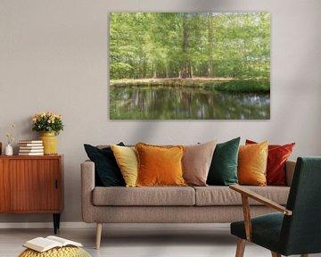 Dromerige bomen á la Monet van Karin Riethoven