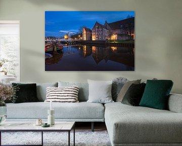 Blaue Stunde am Thorbecke-Kanal von Rick Kloekke