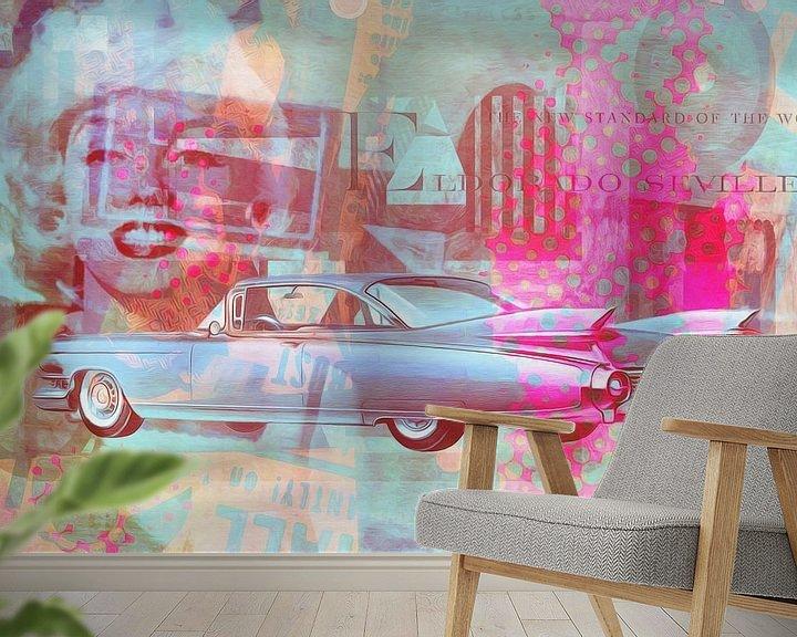 Beispiel fototapete: Marilyn Monroe und das Eldorado von 1959 von Joost Hogervorst