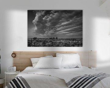 Wolkenhimmel in Schwarz-Weiß von Ina Muntinga