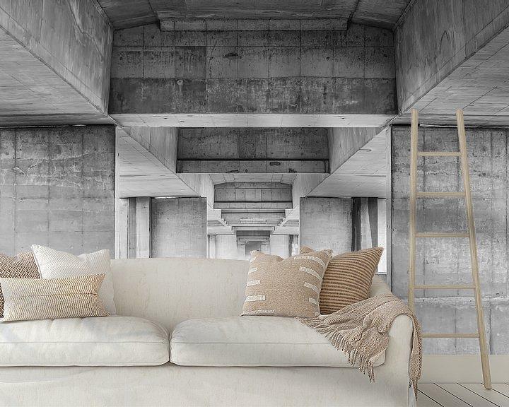 Sfeerimpressie behang: Betonnen schoonheid van Mark Bolijn