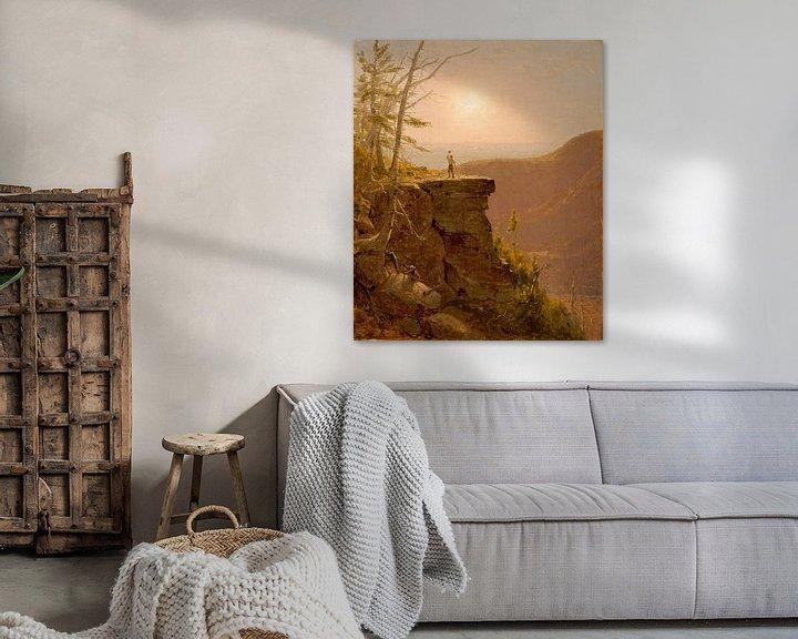 Beispiel: A Ledge on South Mountain, in den Catskills, Sanford Robinson Gifford