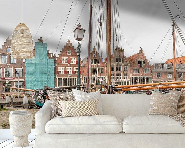 Sfeerimpressie behang: Hoorn: past, present and future! van Robert Kok