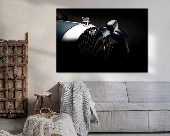 Sfeerimpressie: 1946 Morgan F-Super Three Wheeler. van Thomas Boudewijn
