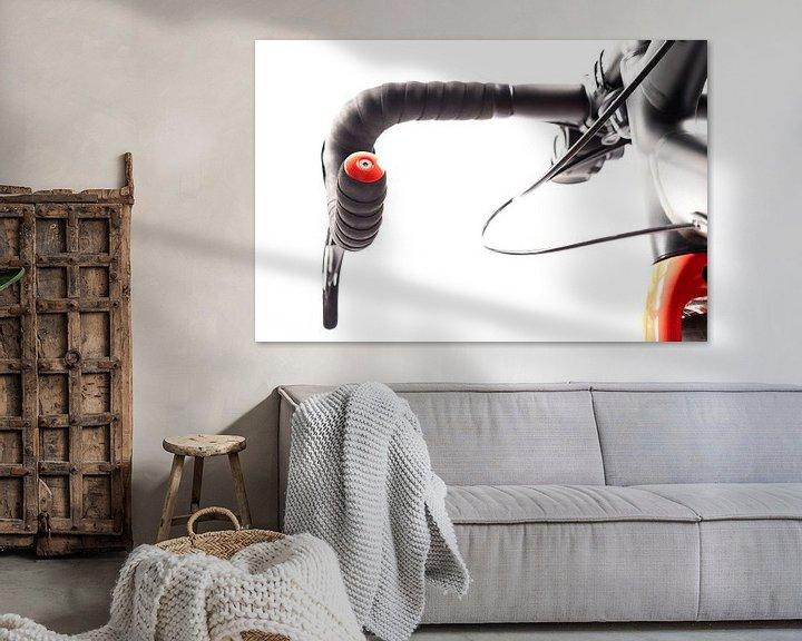 """Sfeerimpressie: Details van de wielrennersfiets """"stuur"""" van Diane Bonnes"""