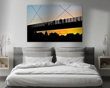 Hohe Brücke Maastricht Sonnenuntergang von Anita Martin, AnnaPileaFotografie