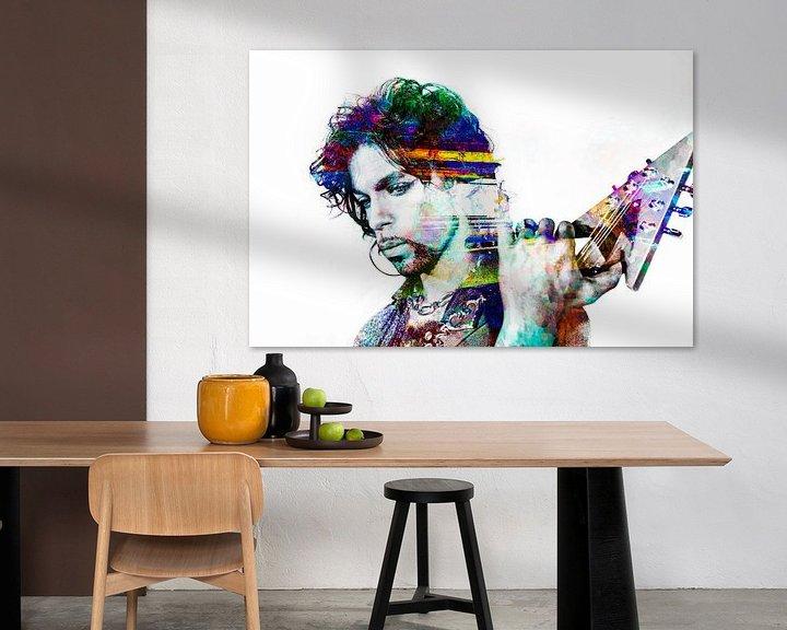 Beispiel: Abstraktes  Prince porträt in verschiedenen Farben von Art By Dominic