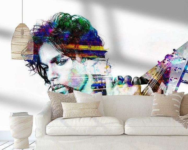 Beispiel fototapete: Abstraktes  Prince porträt in verschiedenen Farben von Art By Dominic