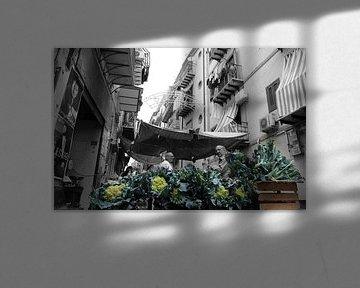 Il Capo-Markt in Palermo von Bert Weber