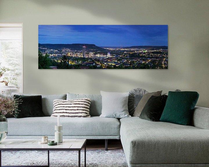 Sfeerimpressie: Jena Panorama op het blauwe uur van Frank Herrmann