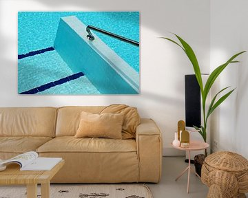 Geometrische vormen in zwembad von Artstudio1622