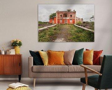 Orange bewachsenes Gebäude von Wendy Bos