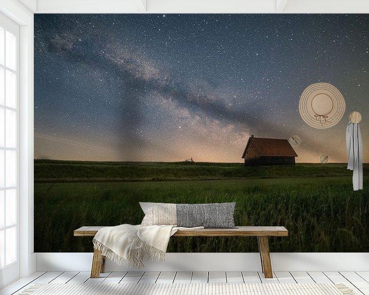 Sfeerimpressie behang: Melkweg van Corné Ouwehand