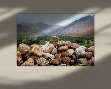 Kirgizische bergen van Julian Buijzen