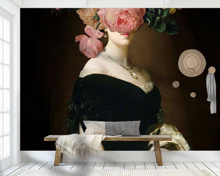 Sfeerimpressie behang: Her Portrait van Marja van den Hurk