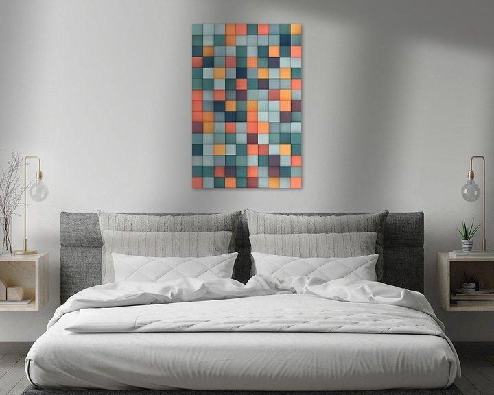 Beispiel: Bunte 3D-Quadrate von Jörg Hausmann