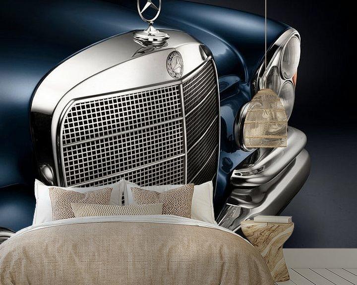 Sfeerimpressie behang: 1967 Mercedes-Benz 250SE van Thomas Boudewijn