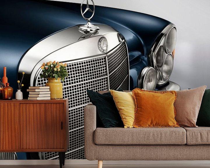Sfeerimpressie behang: 1967 Mercedes-Benz 250SE cabriolet van Thomas Boudewijn