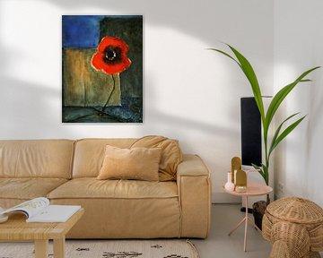 Mauerblümchen - Roter Mohn von Christine Nöhmeier