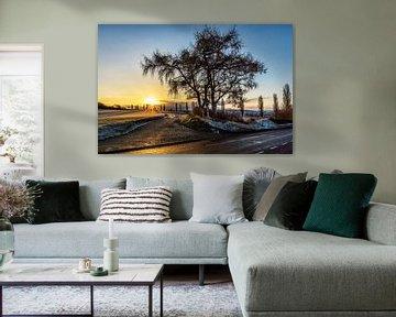 Lever de soleil à Eyserhalte sur Rob Boon