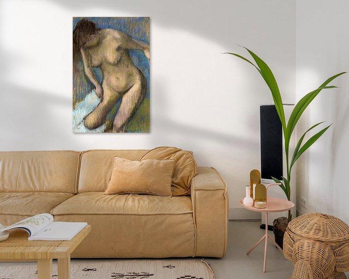 Impression: Edgar Degas, Après le bain - 1886 sur Atelier Liesjes