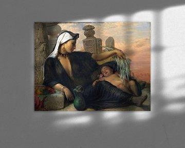Frau, ägyptischer Fellah, mit ihrem Baby - Elisabeth Jerichau-Baumann -1872