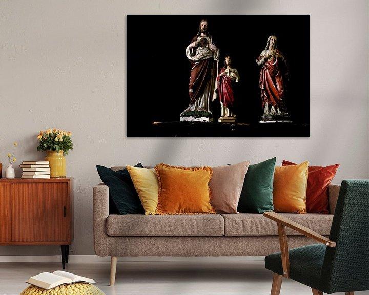 Beispiel: Foto eines Stilllebens mit Jesus-Statuen. von Therese Brals