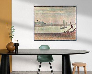 Georges Seurat, Der Kanal von Gravelines, Kleines Fort Philippe - 1890