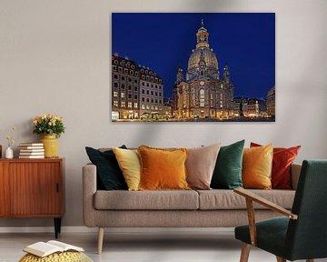 Dresden Frauenkirche zur blauen Stunde