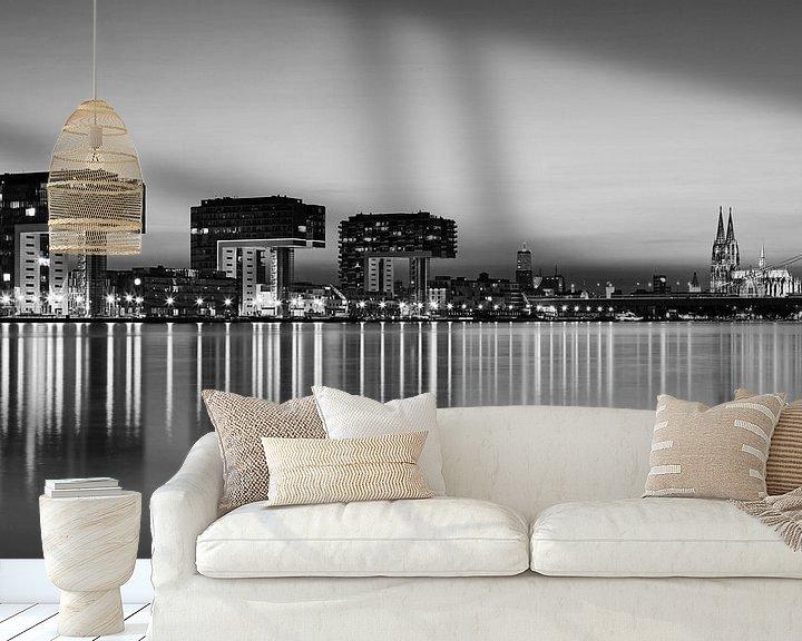 Sfeerimpressie behang: Keulse skyline van Frank Herrmann