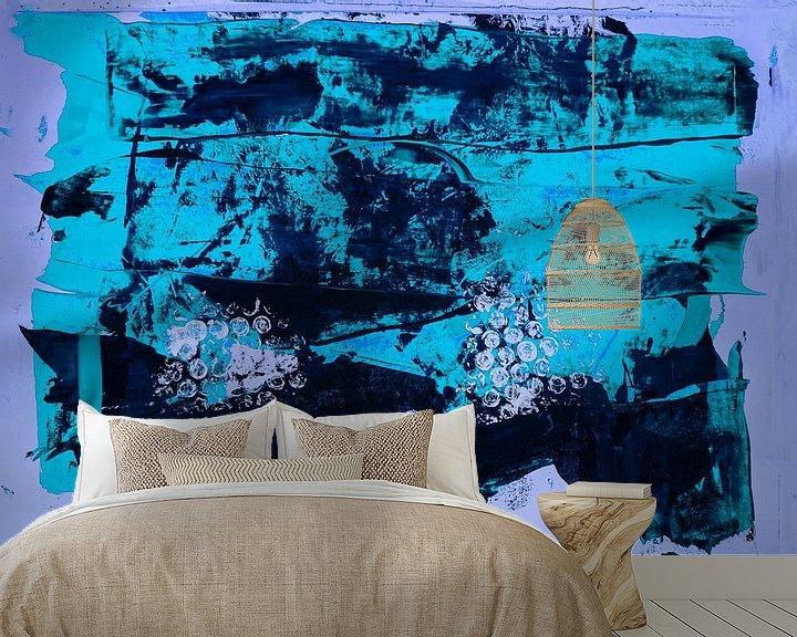 Beispiel fototapete: Blaue abstrakte Farbfläche von Klaus Heidecker
