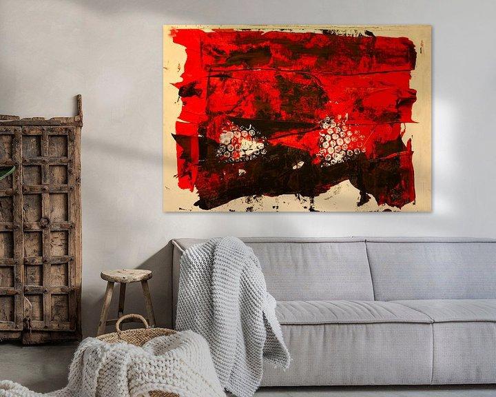 Beispiel: Rot-schwarze dekorative Farbfäche von Klaus Heidecker