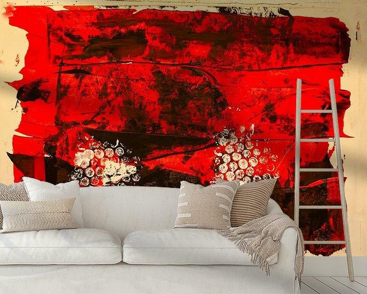 Beispiel fototapete: Rot-schwarze dekorative Farbfäche von Klaus Heidecker