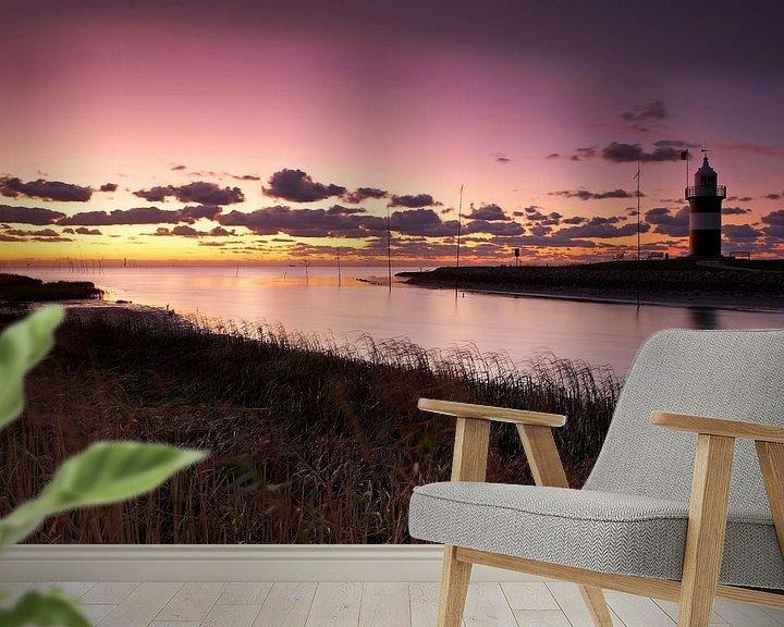 Impression: Le phare de Wremen au coucher du soleil sur Frank Herrmann