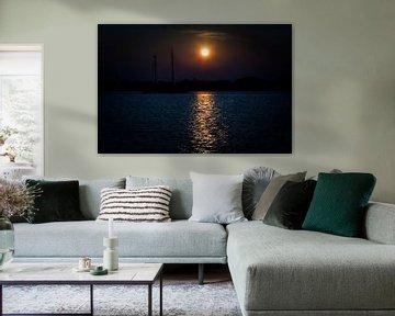 Zonsondergang op de Gouwzee van Jan van der Knaap