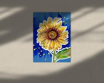 Sonnige Blume von ART Eva Maria