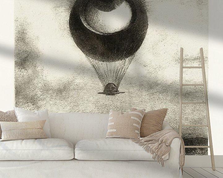 Beispiel fototapete: Odilon Redon, To Edgar Poe (Das Auge steigt wie ein seltsamer Ballon in die Unendlichkeit auf) 1882 von Atelier Liesjes