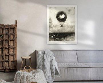 Odilon Redon, To Edgar Poe (Das Auge steigt wie ein seltsamer Ballon in die Unendlichkeit auf) 1882 von Atelier Liesjes
