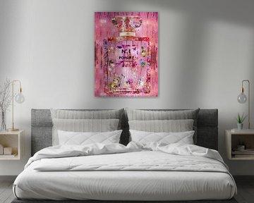 Art coloré d'un flacon de parfum sur Dennisart Fotografie