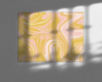 Abstraktes, marmoriertes Gemälde von Sophia Amend