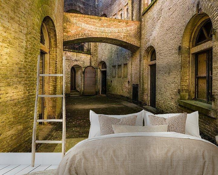 Beispiel fototapete: Standort Urbex, verlassenes Fort an der holländischen Wasserlinie von Michel Knikker