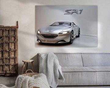 Zilveren Peugeot SR1 concept auto van Sjoerd van der Wal