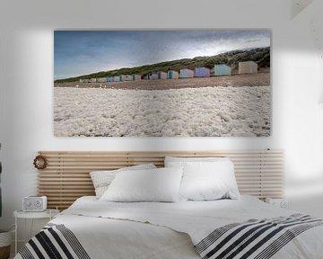Zeeschuim strandhuisjes Paal 12 Texel van Ronald Timmer