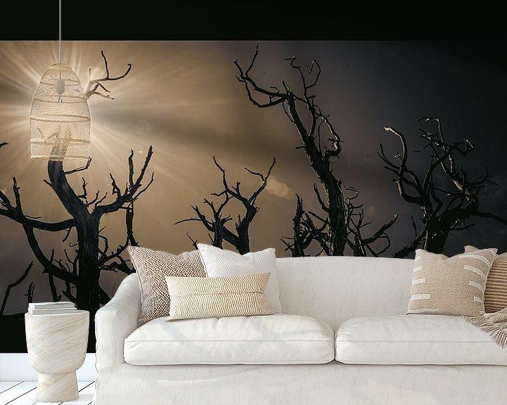 Sfeerimpressie behang: Trees of Bryce van Peter Nijsen