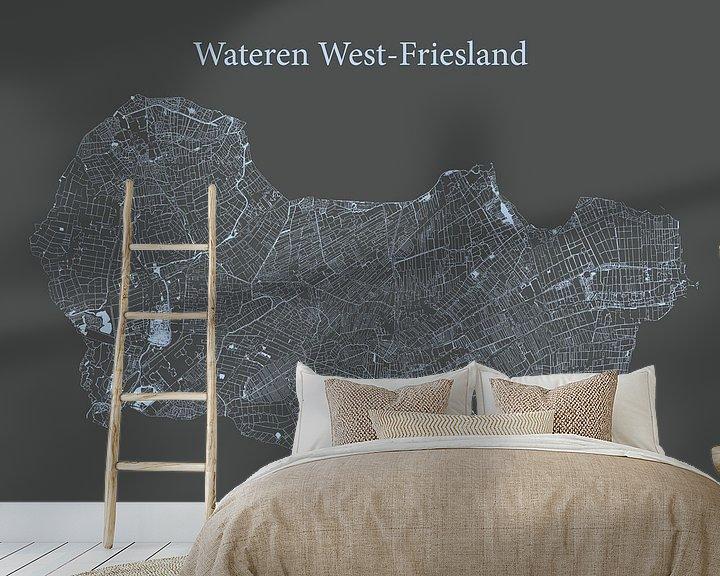 Sfeerimpressie behang: Sloten West-Friesland van Ruben Wester