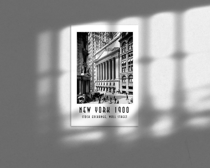 Beispiel: New York 1900: Stock Exchange, Wall Street von Christian Müringer