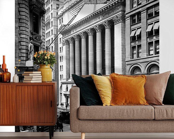 Beispiel fototapete: New York 1900: Stock Exchange, Wall Street von Christian Müringer