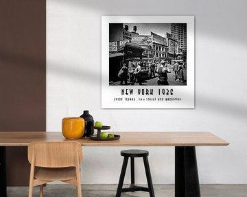 New York 1936: Union Square, 14th Street and Broadway von Christian Müringer